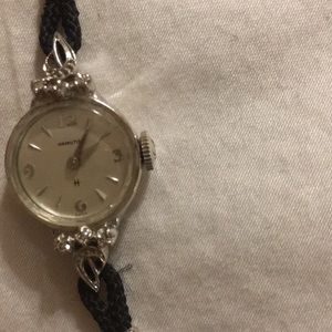 Halmiton 14k white gold watch